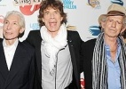 Charlie Watts, Mick Jagger e Keith Richards, da banda Rolling Stones