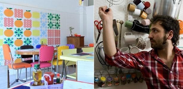 Ambiente do Tangerine, que abre quinzenalmente na Lapa, em São Paulo (à esq.), e o blogueiro e fotógrafo Ricardo Toscani em seu estúdio-restaurante no bairro de Pinheiros