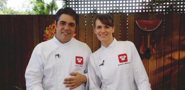 Os Chefs Carlos Siffert e Gabriela Martinoli, que estão entre os profissionais da Chef TV